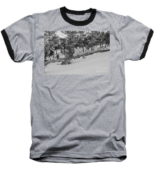Baseball T-Shirt featuring the photograph Boardwalk Climbing A Hill by Sue Smith