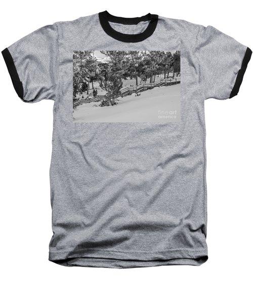 Boardwalk Climbing A Hill Baseball T-Shirt