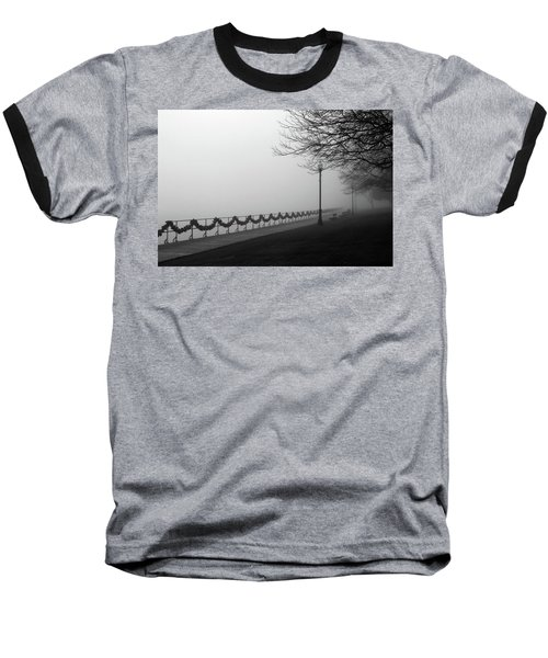 Baseball T-Shirt featuring the photograph Boardwalk Fog 7 by Mary Bedy