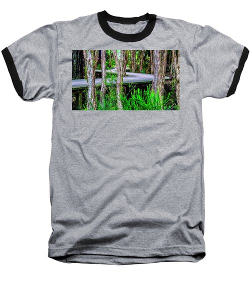 Boardwalk In The Woods Baseball T-Shirt