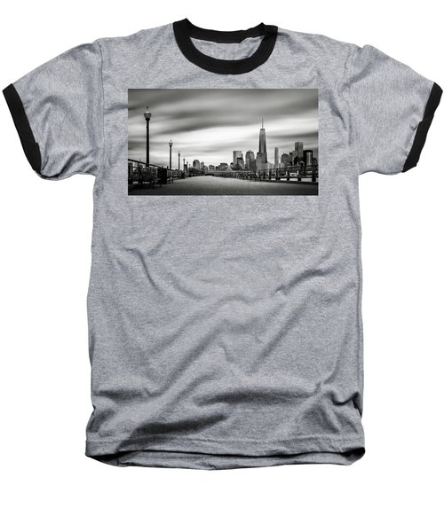 Baseball T-Shirt featuring the photograph Boardwalk Into The City by Eduard Moldoveanu