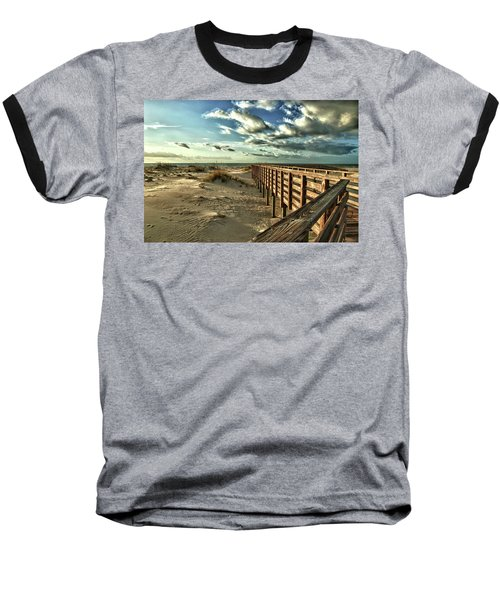 Boardwalk On The Beach Baseball T-Shirt