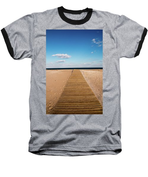 Boardwalk To The Ocean Baseball T-Shirt
