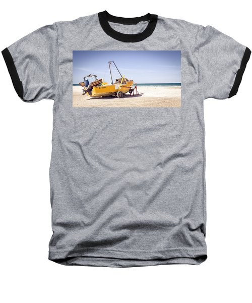 Baseball T-Shirt featuring the photograph Boat And The Beach by Silvia Bruno