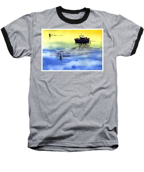 Boat And The Seagull Baseball T-Shirt