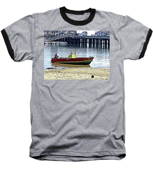 Boat At The Beach Provincetown Baseball T-Shirt