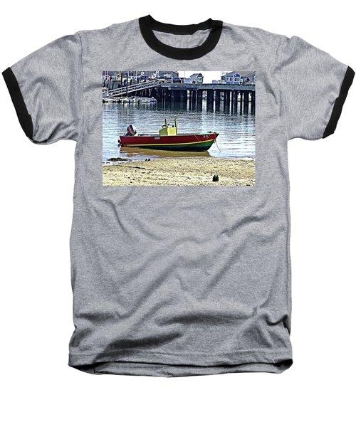 Boat At The Beach Provincetown Baseball T-Shirt