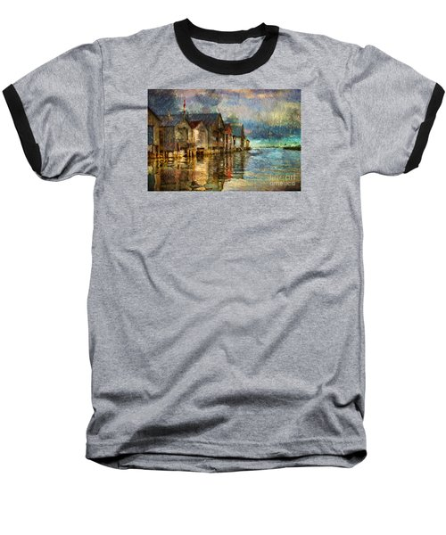 Boat Houses Baseball T-Shirt by Jim  Hatch