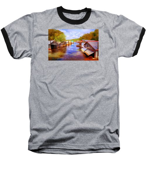 Boat Houses Baseball T-Shirt