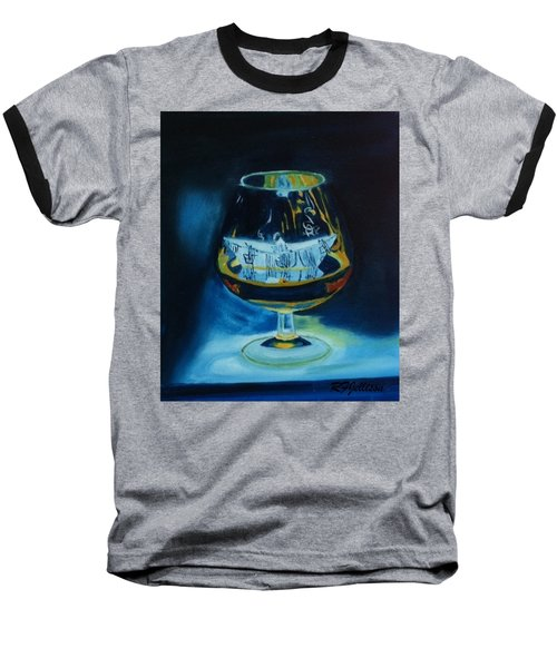Baseball T-Shirt featuring the painting Boat In A Glass by Rod Jellison