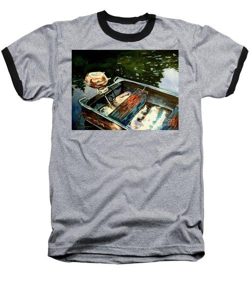 Boat In Fog 2 Baseball T-Shirt