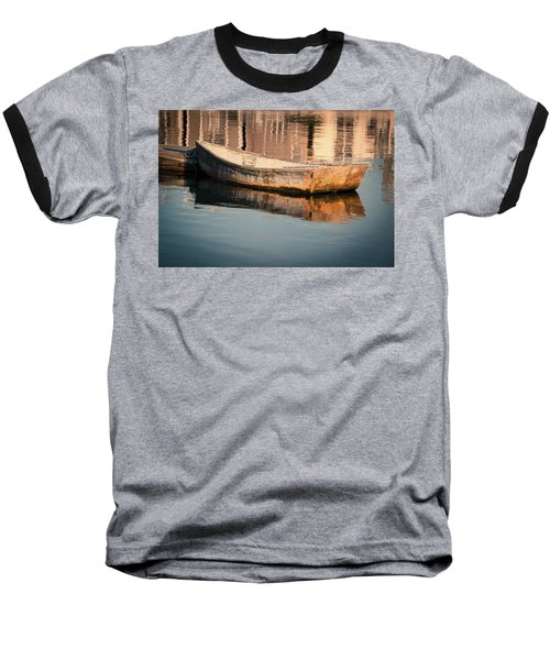 Boat In The Harbor Baseball T-Shirt