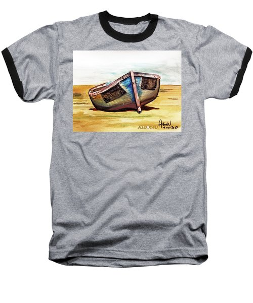 Boat On Beach Baseball T-Shirt