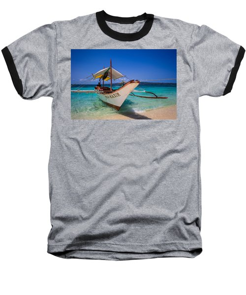 Boat On Boracay Island Baseball T-Shirt