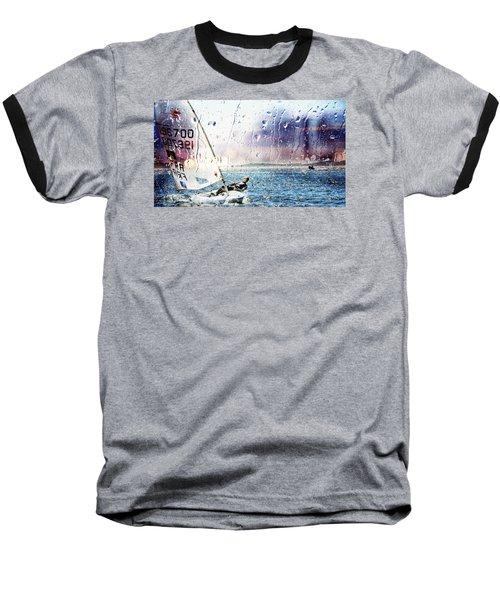 Boat On The Sea Baseball T-Shirt