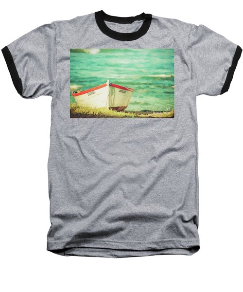 Boat On The Shore Baseball T-Shirt