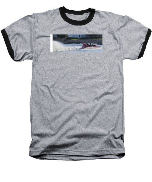 Boat On The Water Baseball T-Shirt by Aaron Martens