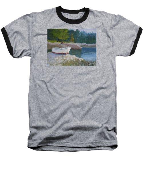 Boat On Tidal River Baseball T-Shirt