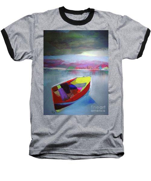 Boat On Whiskey Lake Baseball T-Shirt