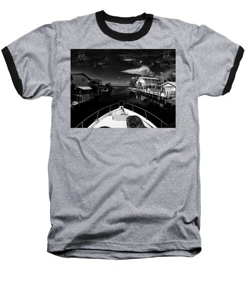 Boat Ride Baseball T-Shirt by Kevin Cable