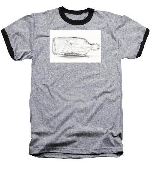 Boat Stuck In A Bottle Baseball T-Shirt