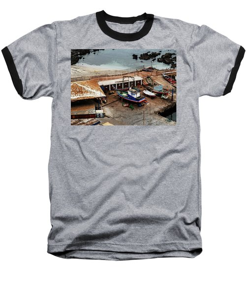Boat Yard Iquique Harbor Chile Baseball T-Shirt