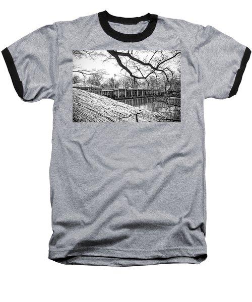 Boathouse Central Park Baseball T-Shirt by Alan Raasch