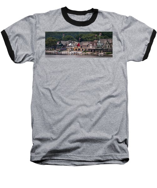 Boathouse Row Philadelphia Pa  Baseball T-Shirt by Terry DeLuco