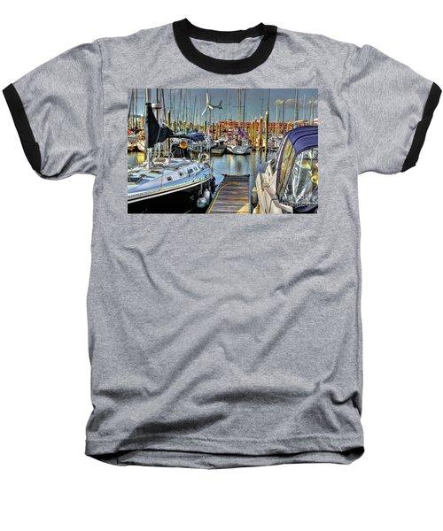 Boats At Kemah Baseball T-Shirt