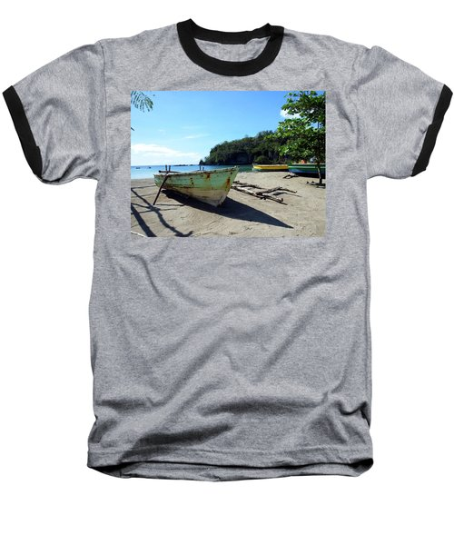 Baseball T-Shirt featuring the photograph Boats At La Soufriere, St. Lucia by Kurt Van Wagner