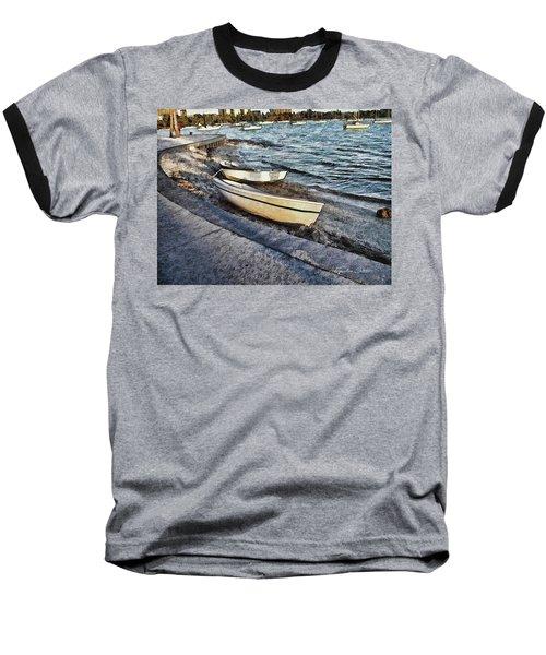 Boats At The Bay Baseball T-Shirt