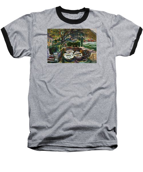 Boats At The Pier. Sold Baseball T-Shirt