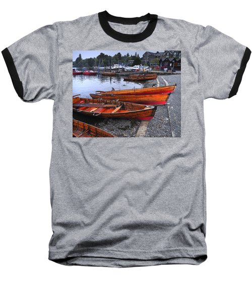 Boats At Windermere Baseball T-Shirt