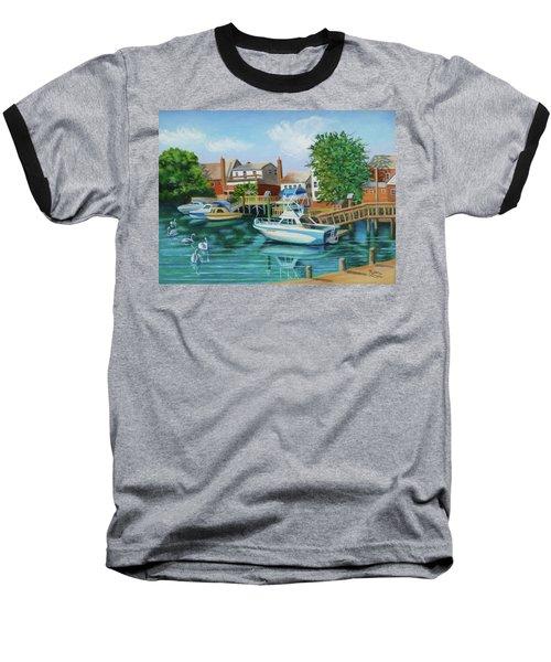 Boats Behind Cross Bay Blvd. Baseball T-Shirt