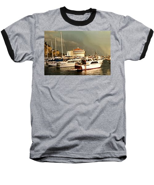 Baseball T-Shirt featuring the photograph Boats Catalina Island California by Floyd Snyder