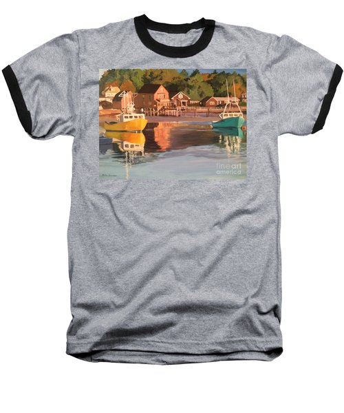 Boats In Kennebunkport Harbor Baseball T-Shirt