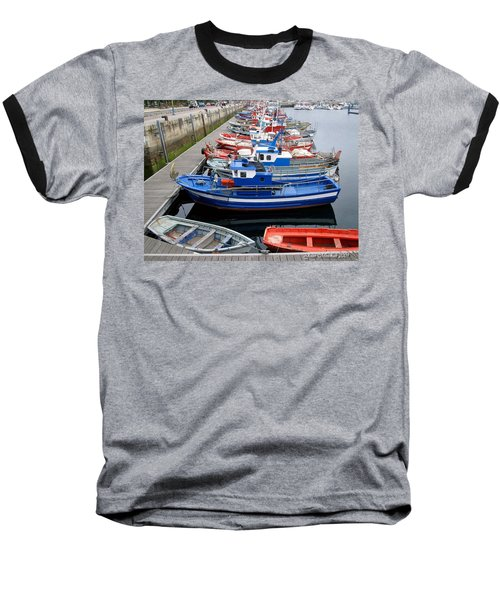 Baseball T-Shirt featuring the photograph Boats In Norway by Joan  Minchak