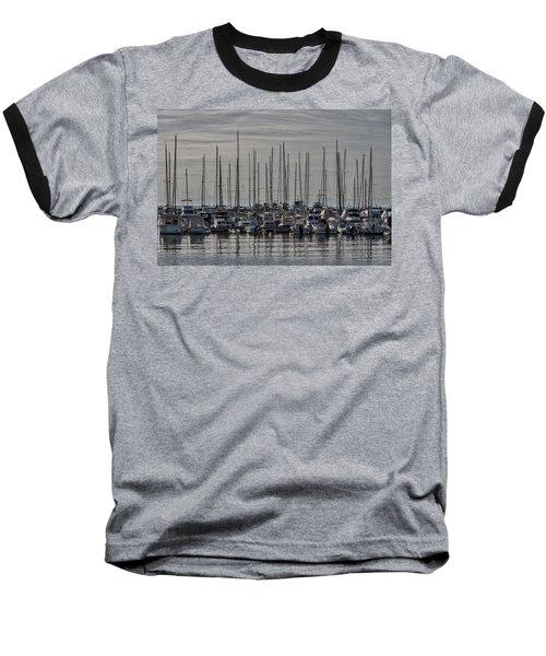Baseball T-Shirt featuring the photograph Boats In The Izola Marina - Slovenia by Stuart Litoff