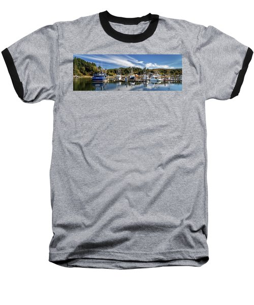 Baseball T-Shirt featuring the photograph Boats In Winchester Bay by James Eddy