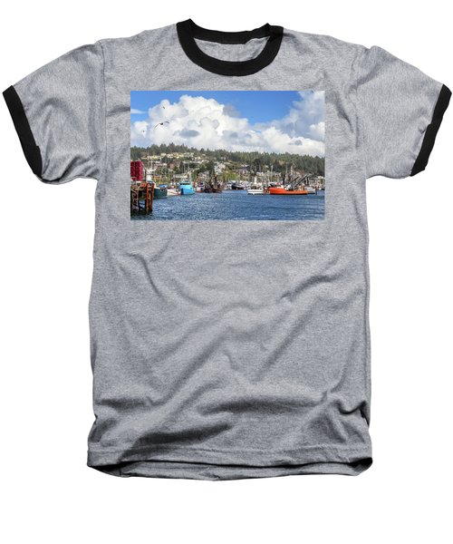 Baseball T-Shirt featuring the photograph Boats In Yaquina Bay by James Eddy