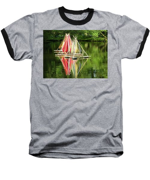 Baseball T-Shirt featuring the photograph Boats Landscape by Manuela Constantin