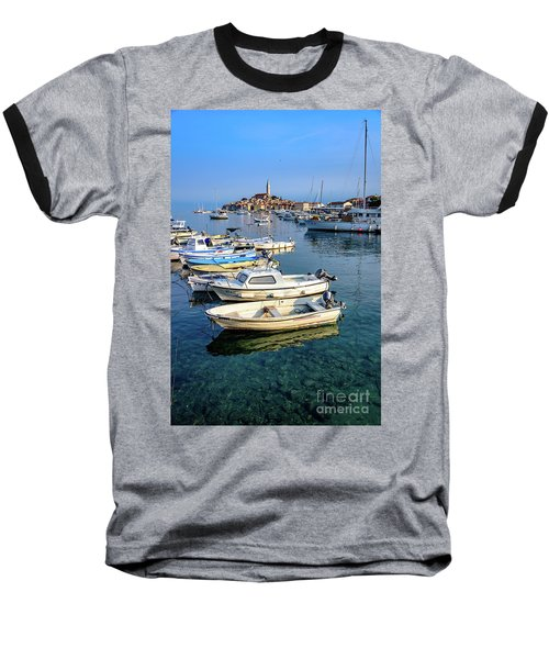 Boats Of The Adriatic, Rovinj, Istria, Croatia  Baseball T-Shirt