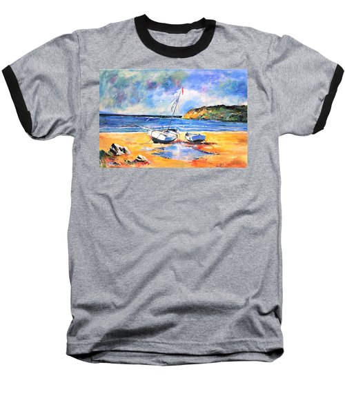 Boats On The Beach Baseball T-Shirt