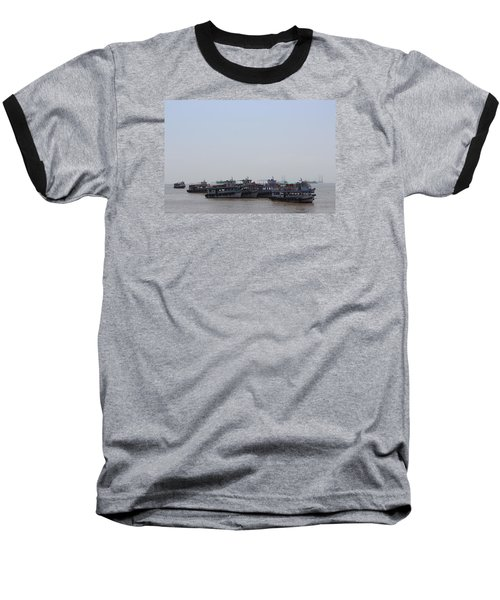 Boats On The Indian Ocean In The Haze Baseball T-Shirt by Jennifer Mazzucco