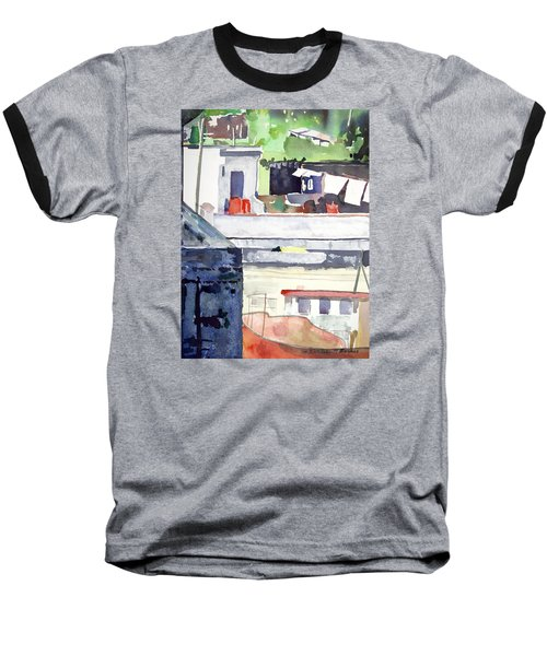 Boats On The Quay Baseball T-Shirt