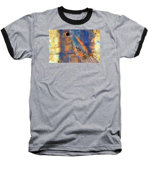 Baseball T-Shirt featuring the photograph Boatyard Abstract1 by Newel Hunter