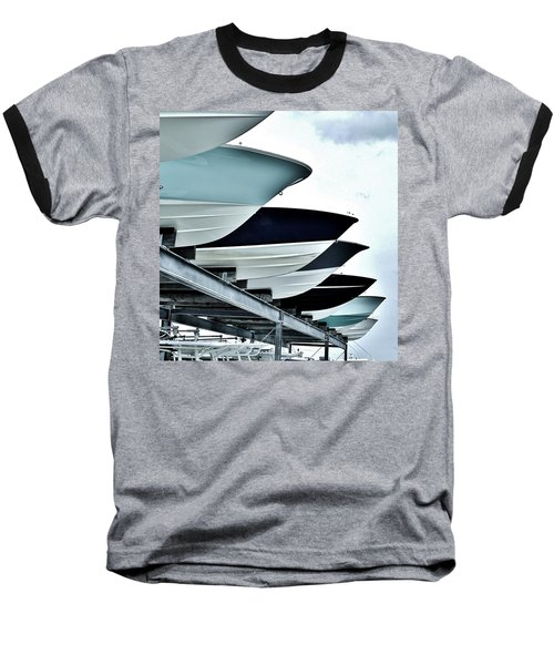 Boatyard, Tiki 52 Baseball T-Shirt by John Wartman