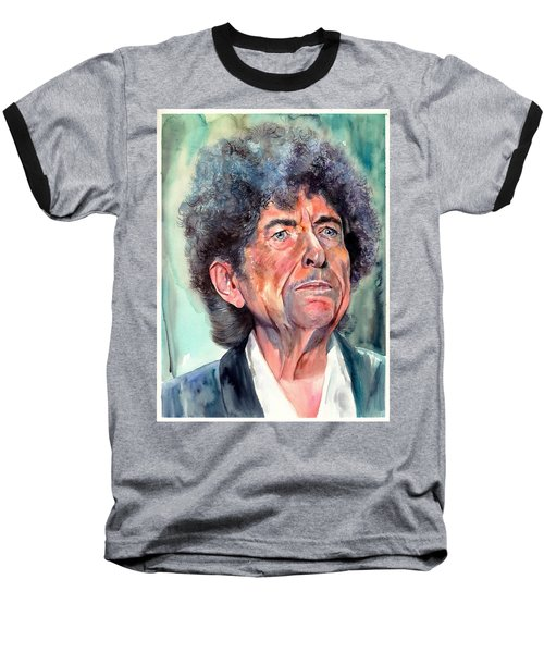 Bob Dylan Watercolor Portrait  Baseball T-Shirt