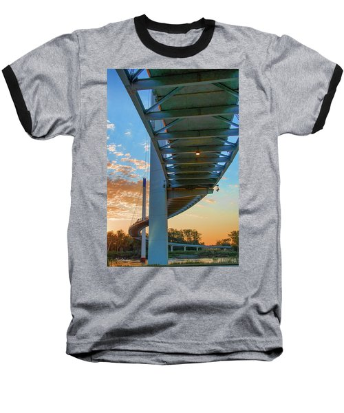 Bob Kerry Bridge At Sunrise-2 Baseball T-Shirt