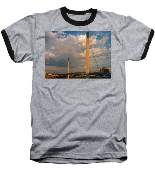 Bob Kerry Bridge At Sunrise-3 Baseball T-Shirt